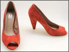 Suede Open Toe Medium (B, M) Width Cuban Heels for Women