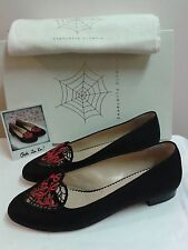 """New With Tags """"Charlotte Olympia"""" - """"Ooh La La!"""" Hand Craft, Linen/Leather Flats"""