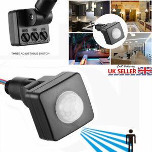 Outdoor Security PIR Motion Movement Sensor Detector LED Light Sensor Switch NEW