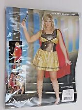 Plus Size 3X/4X Women's Red Gold Gladiator Costume Cosplay Halloween Party Sexy