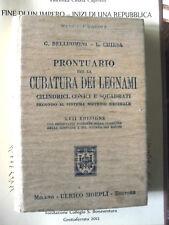 Belluomini e Chiesa PRONTUARIO PER LA CUBATURA DEI LEGNAMI Manuali Hoepli 1926