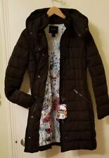 DESIGUAL Abrig  Pisa Women Coat Puffer Jacket Hood Size 36 US 2 XS Black $259