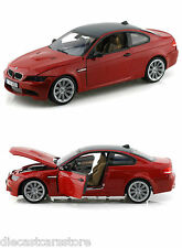 MOTORMAX BMW M3 COUPE RED CARBON FIBER ROOF 1/18 Diecast Car 73182RD