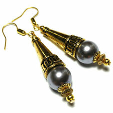 Handmade Pearl Glass Costume Earrings