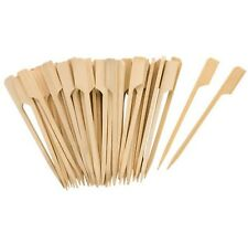 Tala 50x 9cm Bamboo Wooden Cocktail Sticks Burger Canapés Buffet Olives BBQ