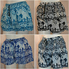 Cotton Elephant Indian Summer Shorts hippy festival beach mini hot pants