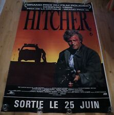 Original French Vintage Poster 1986 Hitcher Large Rutger Hauer Road Terror Crime