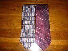 Men's Necktie Bundle (2), Made In Italy, Geometric Maroon White Multi Color MNB