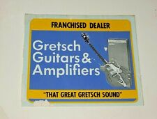 GRETSCH GUITAR & AMPLIFIER VINTAGE UNUSED DECAL