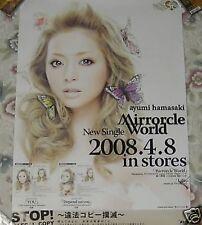 Ayumi Hamasaki Mirrorcle World 2008 Japan Promo Poster