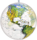 Jet Creations 16 Inch Globe Of The World, Raised Relief Topographic Map With Pol
