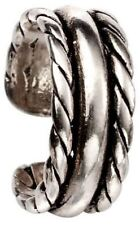 51984d7b9 Beginnings Sterling Silver C166 Three Band Rope Plain Ear Cuff
