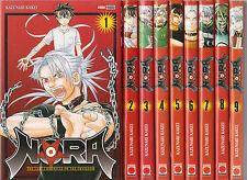 NORA tomes 1 à 9 Kakei manga SERIE COMPLETE shonen en français