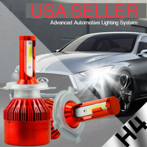 WHITE H4 LED REPLACEMENT Headlight Bulbs Kit 5k for Hino 145 165 185 258 268 338