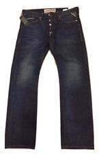 Mens Replay Jeans Waitom 34 X 32 Regular Slim M983 Dark Wash Authentic