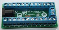 Bausatz Stromverteiler mit Status LED - 30V AC/DC Verteiler EIngang Hohlbuchse