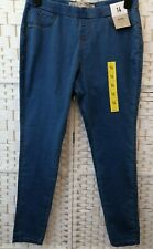 DENIM & CO Womens Blue Denim Comfort Stretch Elastic Waist Jegging Jeans Size 14