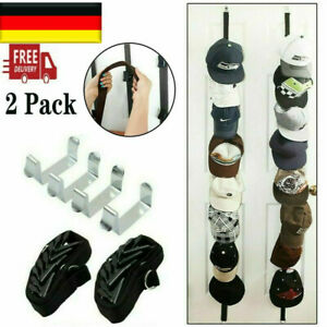 2 Stk Caprack Kappenhalter zum Aufhängen von16 Basecaps Snapback Cap Rack XXL