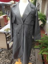 Grey George David Fashions Raincoat/Overcoat Jacket Full Length Gray