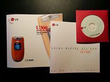 Manuali Guida utente + cd-rom per  LG per LGU300