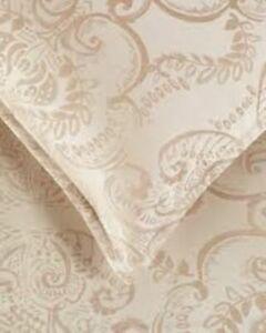 Sferra Chisella Mocha Pillow King Sham Egyptian Cotton Sateen Jacquard New