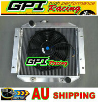 Aluminum Radiator & fan Ford Escort 1971-1980 AT/MT Automatic/Manual 72 73