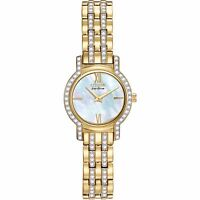 Citizen Eco-Drive Women's EX1242-56D Crystal Accents Gold-Tone 22mm Watch