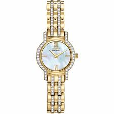 Citizen Eco-Drive Women's EX1242-56D Swarovski Crystal Accents Yellow Gold Watch