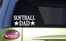 Softball Dad *H879* 8 inch Sticker decal fastpitch catcher pitcher glove bat