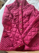 Ladies Joules Ruby Coloured Padded Jacket Size 12 Preowned Good Condition