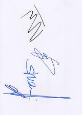 Böhse Onkelz Autogramme signed A4 Karteikarte