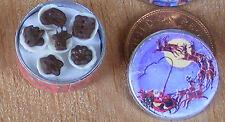 1:12 scala piena Babbo Natale & Slitta Biscuit Tin Casa delle Bambole Accessorio da cucina Bt18c