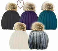 Pelliccia Invernale Pompon Donna con Pon Pon Sci Cappello