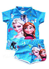 UK SELLER Elsa Anna Frozen Girls Swimwear Swimming Costume Set Swimsuit Beach