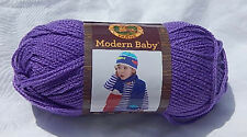"""Lion Brand """"Modern Baby"""" in Purple - New & Smoke Free Home Discontinued Line"""
