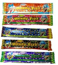30 x Wicked Fizz Chews Assorted Flavours Candy Bulk Sweets Lollies Favors