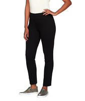 Susan Graver Weekend French Knit Comfort Waist Leggings - Black - X-Small