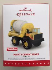 HASBRO TONKA MIGHTY CEMENT MIXER 2015 HALLMARK KEEPSAKE CHRISTMAS ORNAMENT