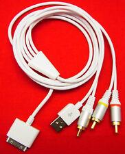 TV AV Video Fernseher Composite Kabel Adapter USB Datenkabel für iPhone 3G 3GS