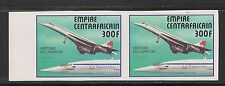 Central Africa #301 Vf Mnh Imperforated Pair - 1977 300fr Concorde