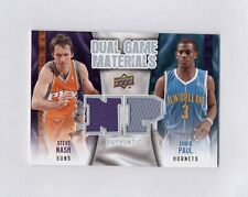 Chris Paul Steve Nash Game Materials Dual Jersey Card 09/10 Upper Deck CP3 LA