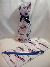 San Diego Padres MLB Baseball Cotton Fabric Wine/Gift Bag NEW
