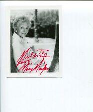 Mary Martin Peter Pan Star Broadway Tony Award Winner Signed Autograph Photo
