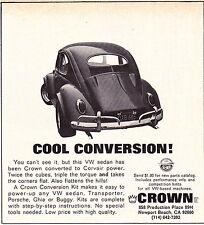 1969 VW / VOLKSWAGEN BEETLE / CROWN CONVERSION KIT - ORIGINAL SMALLER PRINT AD