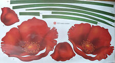 POPPY FLOWER WALL STICKER DECAL CHILDREN/NURSERY/KIDS/GIRLS/BOYS ROOM