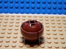 LEGO Set of 2 NEW Cylinder Hemisphere 3x3 Ball Turret w/ 2x2 Base REDDISH BROWN