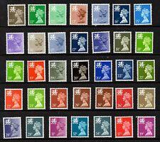 Wales. W35-W69. Kollektion x 35 Questa Dauermarken. Guter zustand nicht gefaßt