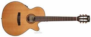 Akustische Gitarre Cort CEC5 Musik Instrument Natur Braun Gitarrensaite fehlt