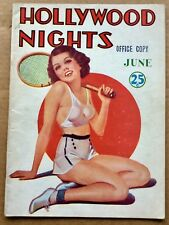 HOLLYWOOD NIGHTS VOL. 1 #6 (June 1936) Vintage Risque Magazine