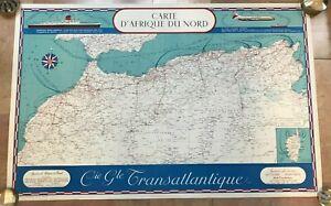 NORTH AFRICA 1960 by LAPREE & LEZLA BLONDEL LA ROUGERY CIE G TRANSATLANTIQUE